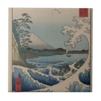 Thirty-six Views of Mount Fuji  富士三十六景,  Hiroshige Ceramic Tile