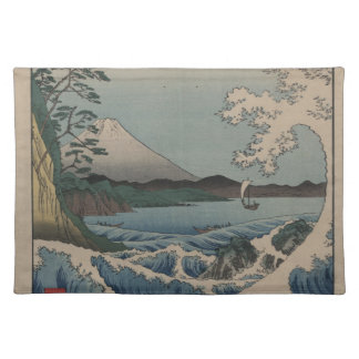 Thirty-six Views of Mount Fuji  富士三十六景,  Hiroshige Cloth Placemat