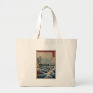 Thirty-six Views of Mount Fuji  富士三十六景,  Hiroshige Large Tote Bag