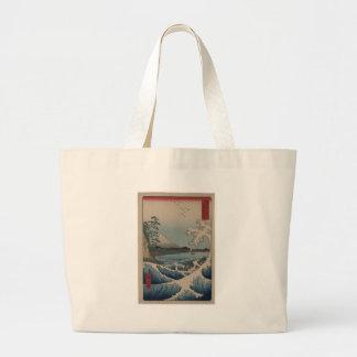 Thirty-six Views of Mount Fuji  富士三十六景,  Hiroshige Large Tote Bag