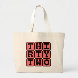 Thirty Two, Number 32 Jumbo Tote Bag