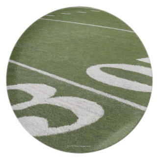 Thirty yard line melamine plate