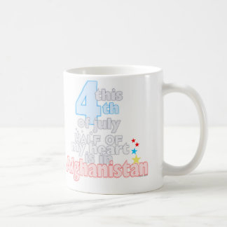 This 4th...heart is in Afghanistan Classic White Coffee Mug