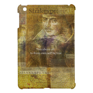 This above all, to thine own self be true QUOTE iPad Mini Cases