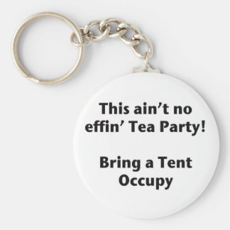 This ain't no effin' Tea Party! Bring a Tent. Basic Round Button Keychain