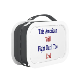 This American Will Fight Until The End Replacement Plate
