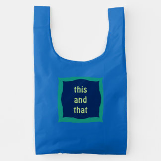 This and That Fancy Square Plaques Custom Text Reusable Bag