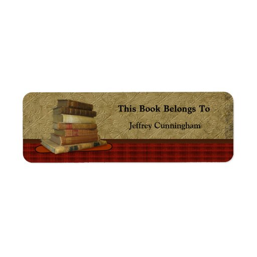 This Antique Book Belongs To You Custom Return Address Labels