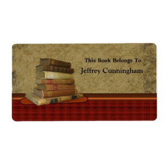 This Antique Book Belongs To You Personalized Shipping Label