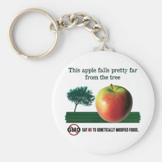 This apple falls pretty far from the tree. NO GMO Keychain