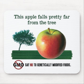 This apple falls pretty far from the tree. NO GMO Mousepad