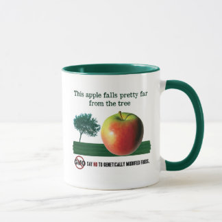 This apple falls pretty far from the tree. NO GMO Mug