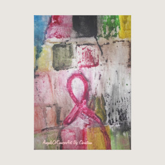 This Art was created for Breast cancer support Canvas Print
