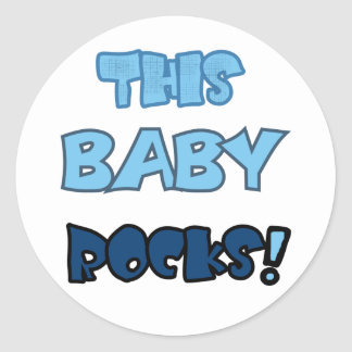 This Baby Rocks Classic Round Sticker