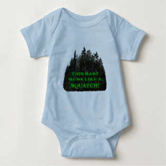 This Baby Runs Like a Squatch! - Clothes Only Baby Bodysuit