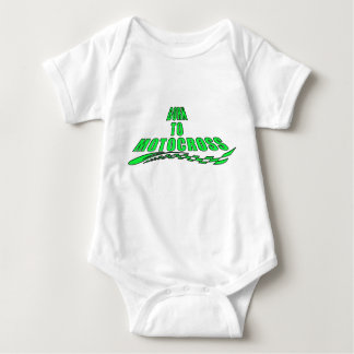 This baby was born to motocross baby bodysuit