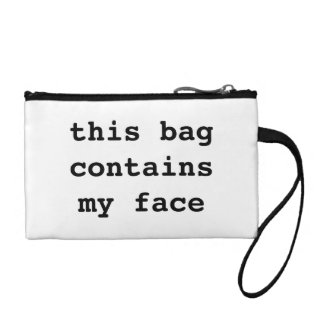 This Bag Contains My Face. Bag