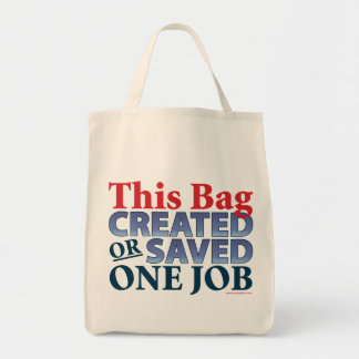 This Bag Created or Saved One Job