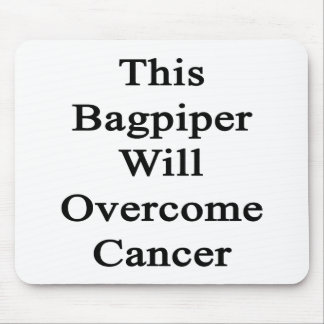 This Bagpiper Will Overcome Cancer Mouse Pads