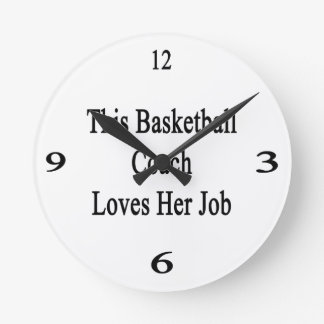 This Basketball Coach Loves Her Job Round Clock