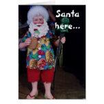 THIS BEACH SANTA HOPES CHRISTMAS IS JOLLY GREETING CARDS