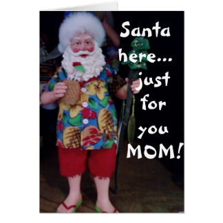 THIS BEACH SANTA HOPES MOM'S CHRISTMAS IS JOLLY CARD