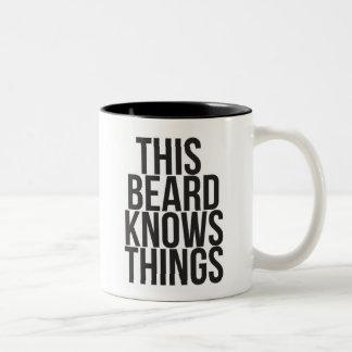 This Beard Knows Things Two-Tone Coffee Mug