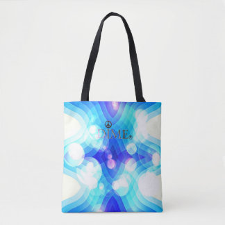 This beautiful soft cotton dime peace tote bag