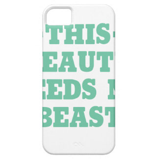 This Beauty Needs No Beast iPhone SE/5/5s Case