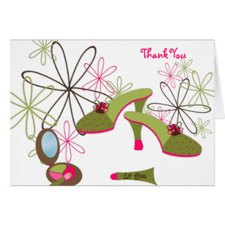 This Belongs to a Girl Thank You Greeting Card