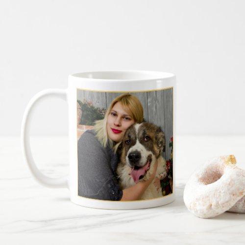 This Belongs To A Superhero Sunny Yellow Photo Coffee Mug