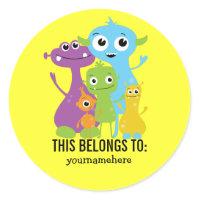 THIS BELONGS TO sticker