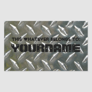 This belongs to... Your Name! Rectangular Sticker