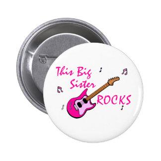 This Big Sister Rocks Pinback Buttons