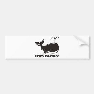 This Blows Whale Design Bumper Sticker