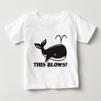 This Blows Whale Design Infant T-shirt