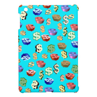 This Blue & Dollar $ Signs iPad Mini Covers
