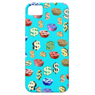 This Blue & Dollar $ Signs iPhone SE/5/5s Case