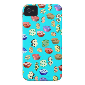 This Blue $ Signs iPhone 4 Case-Mate Case