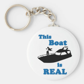 This Boat is Real Keychain
