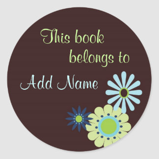 This Book Belogns To... Label Classic Round Sticker
