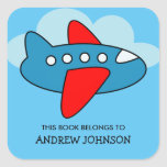 """This book belongs to airplane bookplate stickers<br><div class=""""desc"""">This book belongs to airplane bookplate label stickers. Toy plane name tag tag stickers. Personalized school supplies for little pilot boys and girls. Cute aviation theme illustration with personalizable kids name. Childrens vector design in primary colors. Available in square and round shape. Custom back to school supplies for child, parents,...</div>"""