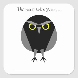This book belongs to ... (Black Owl) Sticker
