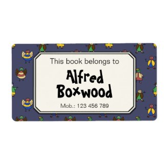 This Book Belongs To Custom Name Cartoon People