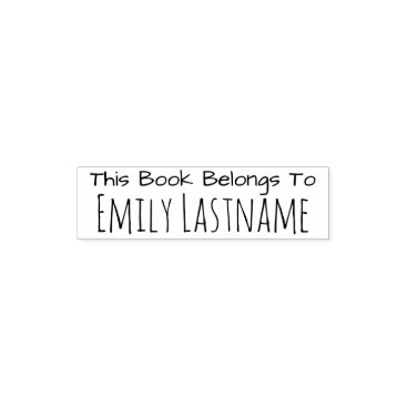 BusinessStationery This Book Belongs To - Custom Name - for Kids Self-inking Stamp
