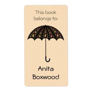 This Book Belongs To Custom Name Umbrella