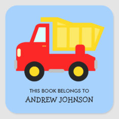 This Book Belongs To Dumptruck Book Label Stickers at Zazzle