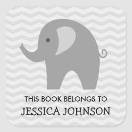 This book belongs to elephant bookplate stickers