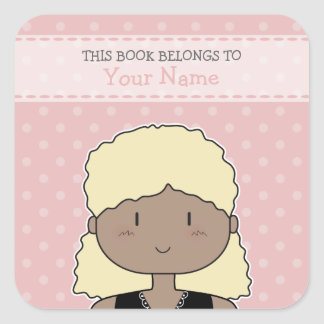 This book belongs to... ex libris / bookplate square sticker