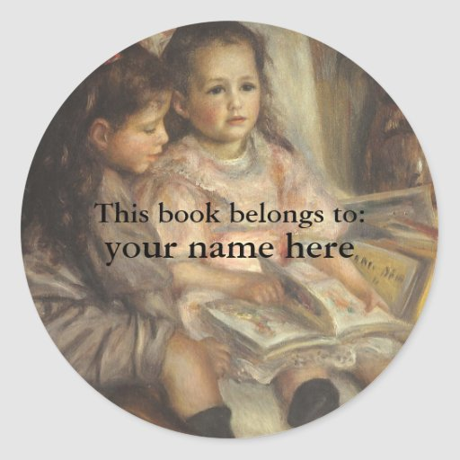 This Book Belongs To ... Fine Art Bookplates Stickers